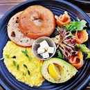 Bagel Set With Avocado (SGD $17) @ The Bravery Cafe.