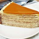 Salted Caramel Mille Crepe Cake (SGD $9.50) @ Lady M Confections.