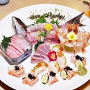 Assorted Sashimi (SGD $88++ for 5 varieties) @ Botan Japanese Restaurant.