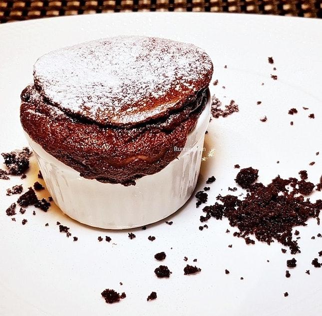 Italian Chocolate Souffle @ Lime Restaurant.