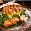 Had this beautiful sashimi and gigantic Amaebi from the newly refurbished Ichiban Boshi Parkway Parade.