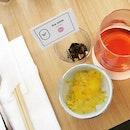 A beautiful food pairing between food and tea.