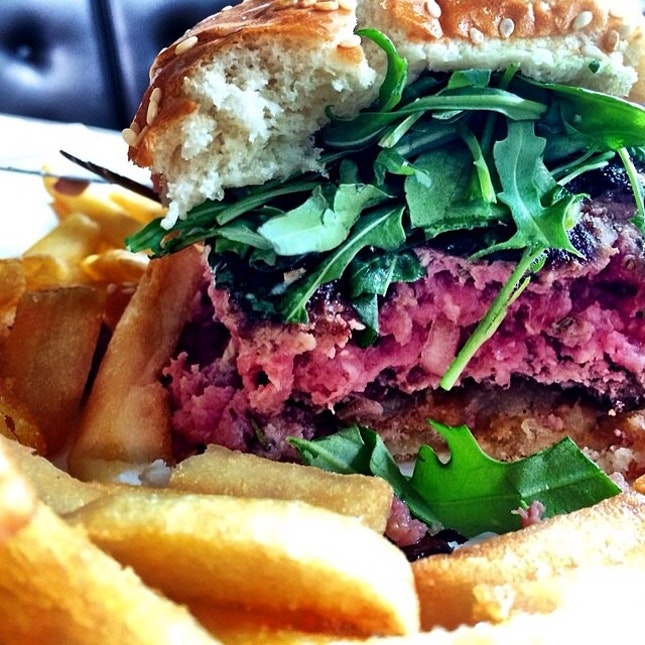 Blue Cheese And Willian Pear Burger