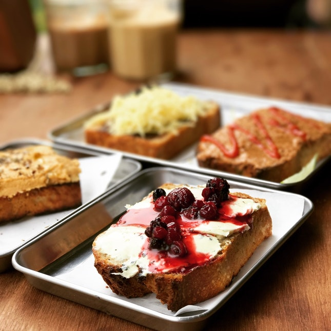 Sage Cream Cheese with Berry Compote Toast • S$4