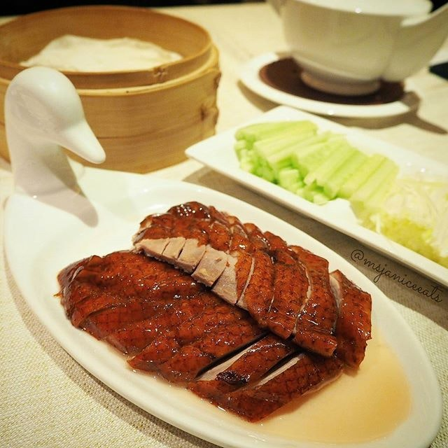 Peking Duck.  So succulent and flavourful!  A divine treat for my palate.