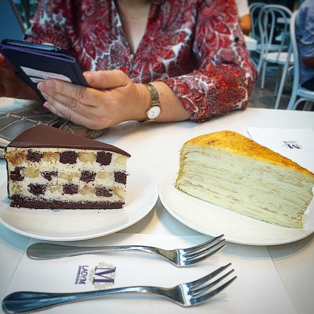 Tea time 🍰☕️🍰☕️ ✨✨#millecrepe #cake #instadaily #instafood #dessert #igsg #foodporn #foodgasm #ladyM #foodstagram #instagood #hungrygowhere #foodie #love #sweets #shiok #burpple #cafesg #sgcafefood #cafehoppingsg