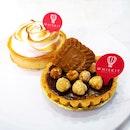 Hazelnut Chocolate Tart & Lemon Meringue Tart ($6)