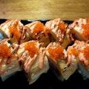 Grilled Salmon Mentai Maki