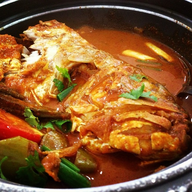 Fish head curry #food