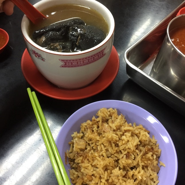 Black Turtle Soup With Yam Rice