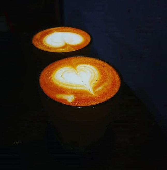 Latte Refelection  Red latte (RM12) Coconut butter (RM6)  #redlatte #artisancoffeebar #coconutbutter #bangsar #remotework #burpplekl #burpple