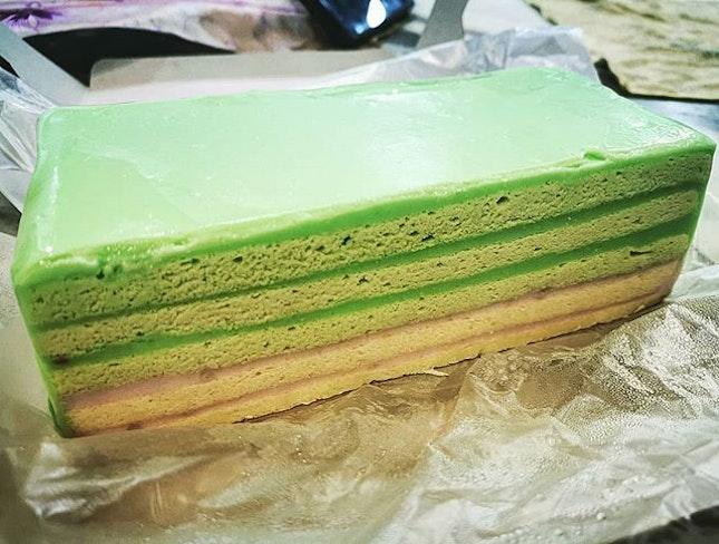 My childhood favourite pandan layer cake..