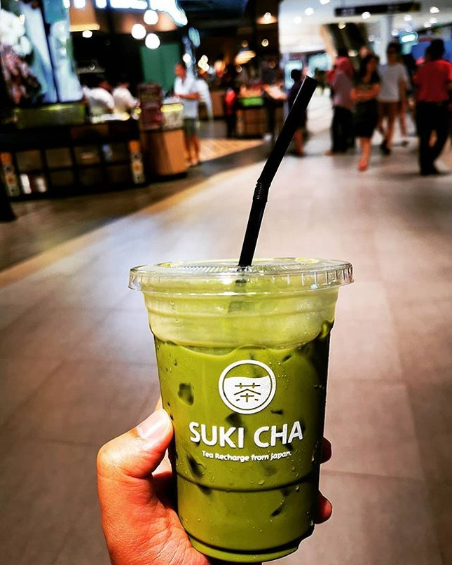 Tea recharge from Japan  Matcha Latte (RM7.40)  #sukicha #matchalatte #matchalover #matcha #burpplekl #burpple #sukiya #centralicity