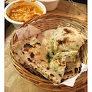 @indline at Keong Saik serves a mean mean naan, and plenty to dip it in.