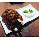 Chicken with a North African twist at @mylittletapasbar.