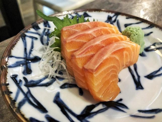 Salmon Sashimi | $1/slice