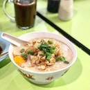 ; Minced Pork Porridge Apart from the renowned Tau Kua Paos, we also frequent Dunman Food Centre for Rong Ji Chicken Rice/Porridge.