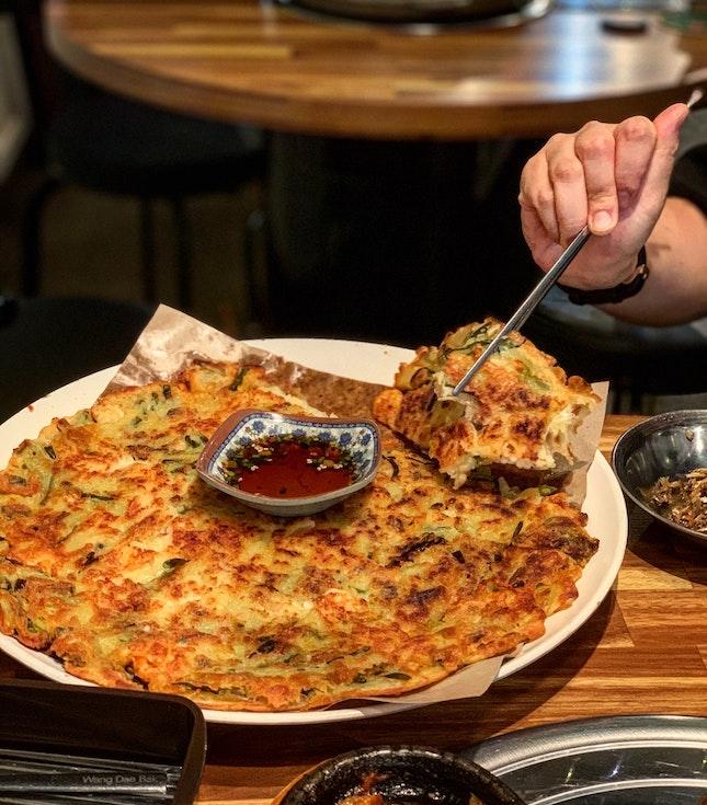 Korean Seafood Pancake 24bucks