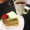 Lychee rose cake ($7) paired with earl grey tea ($4) is lovely!