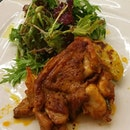 Pollo alla Diavola - Spicy chicken steak with homemade marinate ($25) #southitalian #italianfood #italian #sgfood #igfood #belmondo #belmondosingapore #food #chickensteak #foodporn #milleniawalk #salad #potato #qiangxxuan #throwback #burpplesg #burpple