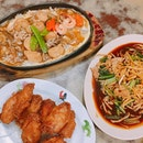 Friday's simple dinner near Binjai Park.