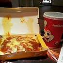 Jollibee Spaghetti with Iced Milo for power breakfast after finishing my fasting bloodtests this morning.