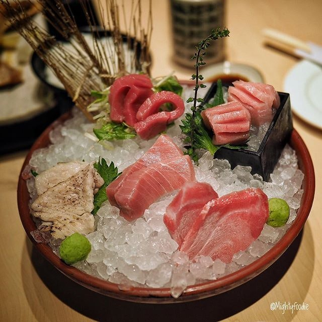 High Quality and absolute freshness Maguro in different cuts ($52.00++) at Maguro-Donya.