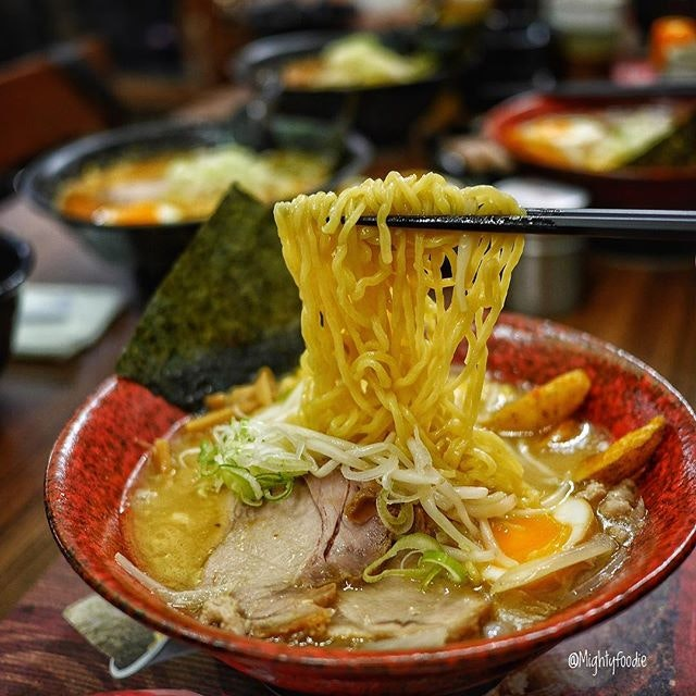 Tokusen Sapporo Miso Ramen ($19.50++) Miso-based pork bone broth with potato wedges, egg, bamboo shoots, leek, bean sprouts, corn, seaweed and two piece of charsiew.