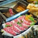 Enjoy 1 for 1 Highly Marbled WAGYU Beef & Premium Black Berkshire Kurobuta Pork @haixianlao valid till 9 Sept 2018.