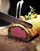 Beef Wellington, available only on Christmas Eve and Christmas Day.