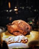 Christmas Feast at @fullertonhotel featuring the Nasi Lemak Turkey .
