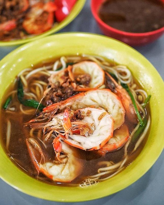 Prawn Mee Soup ($6.00) at Jalan Sultan Prawn Mee.