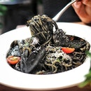 Squid Ink Seafood Spaghetti ($23.95)