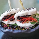 Beef Black Pepper Bao Buns ($9.50/2pcs). Beef rump slices, sesame Chinese steamed bao.