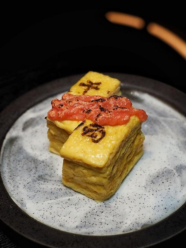 Tamagoyaki with Mentaiko Sauce