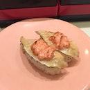 flamed salmon w mentaiko