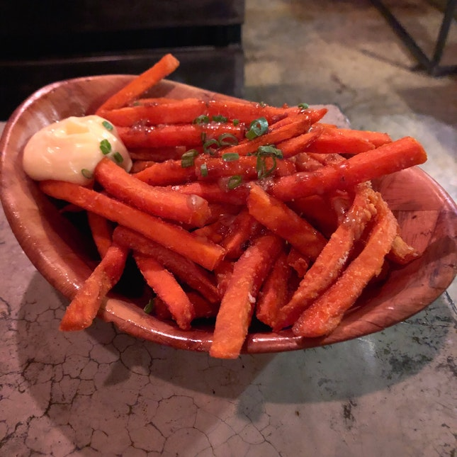 Soy And Sesame Sweet Potato Fries