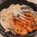 Chicken Chop Carbonara