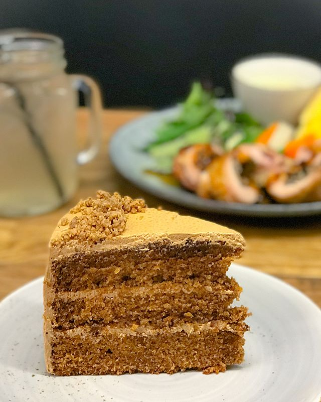 Okinawa black sugar cake [$8] Available while stocks last, the cakes here are freshly baked in house, with flavours that are available on a random basis.