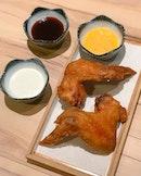 Tempura chicken wings [2 pcs: $4, 5 pcs: $9.90, 10 pcs: $18.50] .
