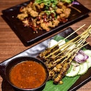 Standard menu items: 。Kampung satay platter [$9] Served with a side of satay peanut sauce that's nutty, gritty and slightly sweet, the chicken satay sticks are grilled to a slightly crisp, charred exterior, along with tender, juicy and flavourful meat.