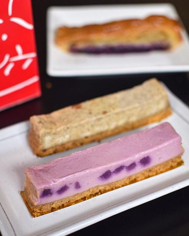 1️⃣ Purple potato cheesecake🍠🧀 [$3.90] 2️⃣ Earl grey cheesecake [$3.90] 3️⃣ Purple sweet potato pie🍠🥧 [$5.90] .