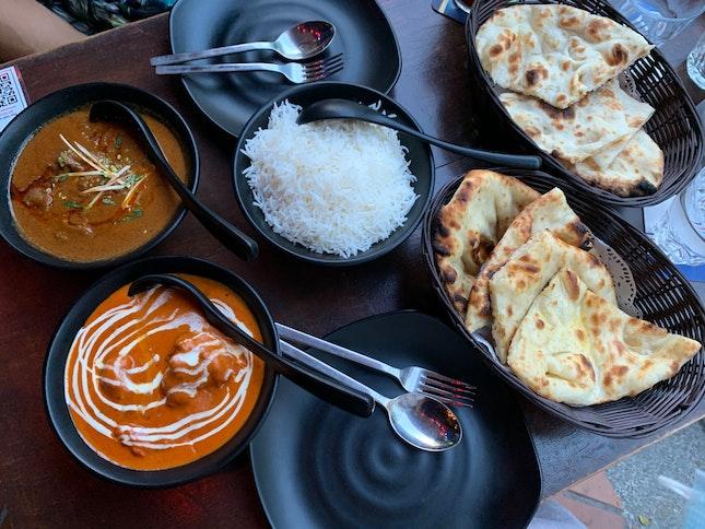 Butter Chicken, Mutton Rogan Josh, Plain/Butter Naan