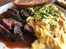 Scrambled Eggs & Wagyu Beef Steak