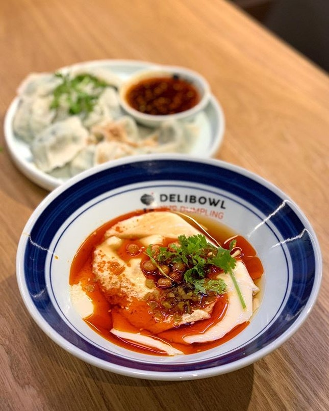 I went to Delibowl Dumplings at SingPost Centre to try the dumplings but left being more impressed with the savoury and spicy tofu.