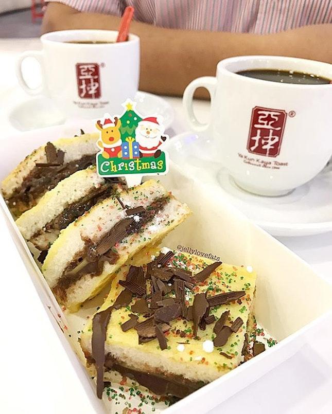 [jelly星期二] Its 🎄Christmas at Ya Kun Kaya Toast..