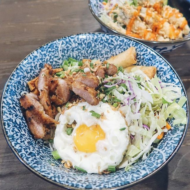 Pretty decent bun cha at this vietnamese cafe; the pork strips may not be on the same level as the grilled pork patties you would usually get in Vietnam but in any case tender.