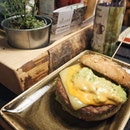 The Avocado ($17++): A larger than average burger with a beef patty, cheddar cheese, veggies and avocado cream.