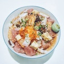 "Super Bara Chirashi Don ($20): Presumably labelled ""super"" because of the wide variety of ingredients perhaps?"