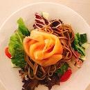 Soba Salad With Smoke Salmon